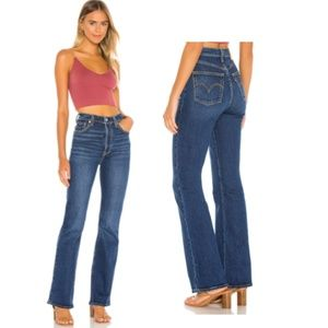Levi's Ribcage Bootcut Jeans in Turn Up
